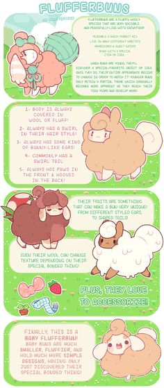 ] Flufferbuns Species Introduction by blushbun on DeviantArt-- My life has a new meaning Creature Drawings, Animal Drawings, Cute Creatures, Magical Creatures, Chibi, Creature Concept, Animation, Kawaii Art, Cute Characters