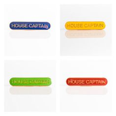 All supplied in packs of 10 Bar – Length x Height All Bar and Shield Badges are nickel free and come with a pin fixing. House Captain Bar can be used for elected House Captains. School Badges, Pin Badges, Enamel, London, Bar, House, Home, Haus, Enamels