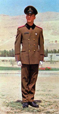 1970s Iranian Imperial White Revolution Corps servicemen's service dress uniform.