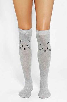 Cat Knee Socks | 27 Rad Pairs Of Socks To Keep Your Feet Cozy
