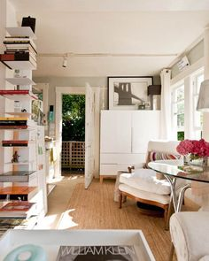 Small Space Storage: 8 Ways to Go Vertical | book shelf