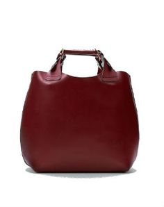 sac shopper bordeaux de zara