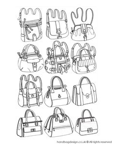 Handbag design sketches / illustrations