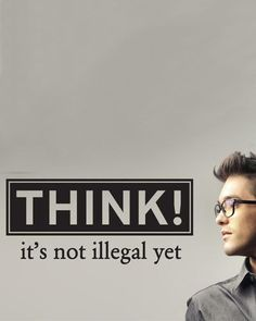 """Removable """"Think"""" Wall Sticker"""