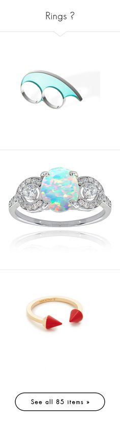 """""""Rings 💍"""" by classychica237 ❤ liked on Polyvore featuring jewelry, rings, unisex rings, resin jewelry, unisex jewelry, sterling silver rings, two-finger ring, white, oval cz ring and sterling silver cz rings"""