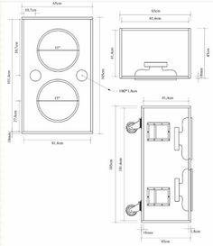 Speaker Plans, Speaker Box Design, Locker Storage, Floor Plans, How To Plan, Motorcycles, Audio, Tech, Home Decor