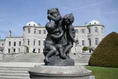 Similar to sculptures at Versailles, this bronze group of children are of French design and the work of Marin. The two vases on each side, with Cupids facing each other, were bought at St. Powerscourt Gardens www. Ireland Homes, House Ireland, Most Beautiful Gardens, Italian Garden, Emerald Isle, Bronze Sculpture, Mythical Creatures, Water Features, Nice View