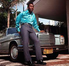 Pelé & his Mercedes-Benz W114 Coupé