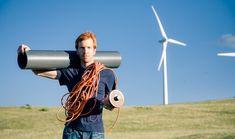 This guy built his own wind turbine... love love love this idea.