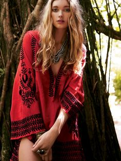 Free People Embroidered Flora Pullover, $29.00