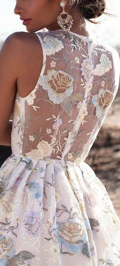 Pastel Floral Lace Gown ❤︎