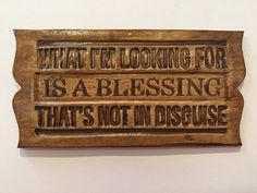 Blessing,What I'm Looking For Is A Blessing That's Not In Disguise,Magnet,Refrigerator Magnet,Kitchen Decor,Humor,Saying,Magnet With Words by RocknSpot on Etsy