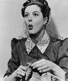 a picture of #Lana #Turner #knitting