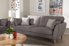 """Ivy Bronx Irven 79"""" Flared Arm Sofa 