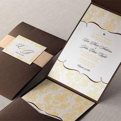 Patterned Grandeur I Wedding Invitations