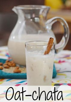 Oat-chata - oats, rice and almonds make this wholesome drink!   - from OATrageous Oatmeals and HealthySlowCooking.com #vegan #oatrageous