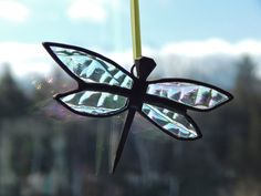 Horse Shoe Nail Stained Glass Dragonfly Sun by RedfordGlassStudio, $12.50