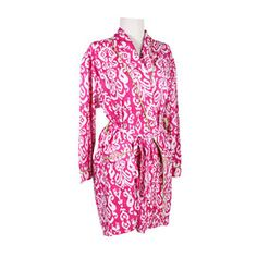 Ikat Robe in Pink