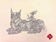 Lady Earl Grey and the Cat Sentinel. (Леди Эрл Грей и Кот Страж). Автор рисунка: Marcomatic.