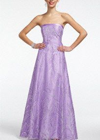 You are a picture of elegance in this enchanting strapless prom dress.  Glitter tulle overlay provides texture and drama.  Corset back is stunning and adds a touch of drama.  Fully line. Lace up back. Imported polyester. Dry clean only.  COMING SOON to stores and online!  Available in Plus sizes as Style 55342W.