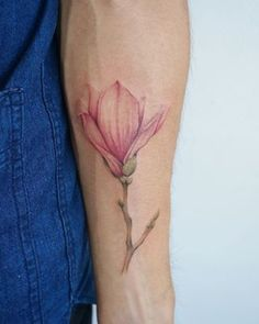 This delicate magnolia.   21 Botanical Tattoo Designs You're About To Be Obsessed With