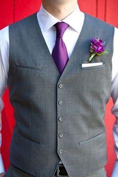 Groomsmen vests with pockets for pocket square... for wedding