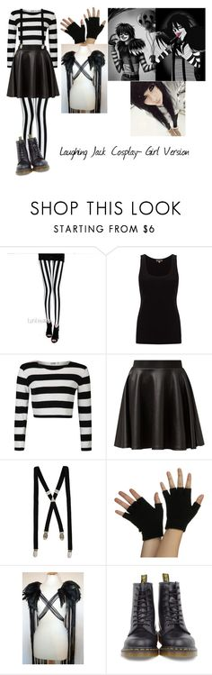 """Creepypasta- Laughing Jack (L.J) Cosplay- Girl Version"" by mychemicalbvb ❤ liked on Polyvore featuring Lynley, Jigsaw, Cameo Rose, River Island, Dr. Martens, women's clothing, women's fashion, women, female and woman"