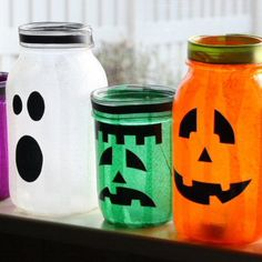 Mason Jar Halloween Jars