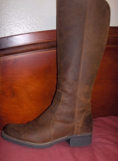 CLARKS WOMEN OILED NUBUCK LEATHER KNEE HIGH BOOTS SIZE 9 M ORINOCCO #Clarks #KneeHighBoots #Casual