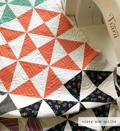 crazy mom quilts  progress on the broken dishes quilt Crazy Mom e5af74785