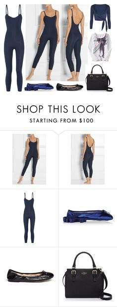 """""""BODYSUIT FOR BALLET AND PILATES"""" by stylev ❤ liked on Polyvore featuring Lisa Marie Fernandez, Ballet Beautiful, Sam Edelman and Kate Spade"""