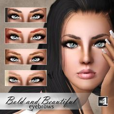 Bold and Beautiful Eyebrows at Ice1 Sims 3 Creations - Sims 3 Finds