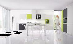 Cucina Euromobil One Touch progettazione casa funzionale, prodotti di arredamento Bassi Arredamenti