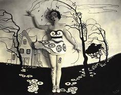 1924 Anonymous photo - surrealism depicting Alberta Vaughn