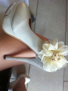 Hakken schoenen bloemen mooi