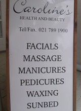 Treatments include Facials, Body Massage, Reflexology, Manicures, Pedicures, Waxing, Tinting and Tanning.