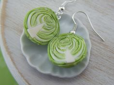Cabbage Earrings. $23.00, via Etsy.