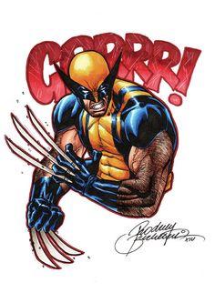 Wolverine Grr by Buchemi on DeviantArt Wolverine Tattoo, Deadpool Wolverine, Wolverine Art, Comic Book Heroes, Comic Books Art, Comic Art, Marvel Art, Marvel Comics, Spiderman