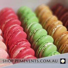 Gourmet Macarons Platter-Launches, Weddings, Events-PFM Events Group – PFM - Events & Catering Delicious Catering, Delicious Desserts, Logo Food, Wedding Catering, Event Styling, New Tricks, Platter, Macarons, Yummy Treats
