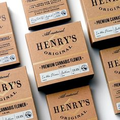 Vintage Graphic Design Henry's Original Cannabis Smokes - Product packaging inspires people to buy products. Want to make your packaging the best on the shelf? Here are the top 10 packaging design trends for Craft Packaging, Vintage Packaging, Tea Packaging, Food Packaging Design, Beverage Packaging, Luxury Packaging, Packaging Design Inspiration, Branding Design, Product Packaging
