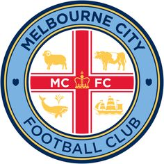 Melbourne City FC Primary Logo on Chris Creamer's Sports Logos Page - SportsLogos. A virtual museum of sports logos, uniforms and historical items. Melbourne Victory Fc, Melbourne City Fc, Melbourne Australia, Football Team Logos, Sports Logos, Arsenal Football, Football Season, Manchester City, Basketball