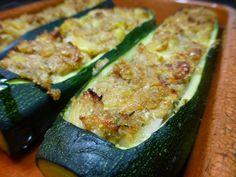 Mi horno de leña: Calabacines rellenos (nueva receta)