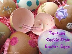 Make  Fortune Cookie Style Easter Eggs!