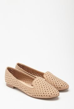 Perforated Faux Leather Loafers from FOREVER 21 on Catalog Spree