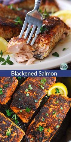 Salmon Recipe Pan, Baked Salmon Recipes, Chicken Recipes, Easy Healthy Salmon Recipes, Recipes For Salmon Filets, Simple Salmon Recipe, Best Easy Recipes, Salmon Recipes Stove Top, Salmon With Skin Recipes