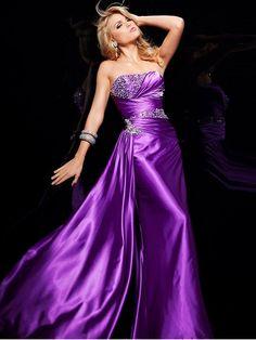 Sheath Column Red Silver Floor-length Rhinestone Strapless Zipper Elastic Woven Satin Sleeveless Prom Dresses
