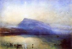 Уильям Тернер. Гора Риги: вид на Люцернское озеро на восходе. 1842 г. В наши дни, «Синяя Риги» (другое название картины), считается наиболее дорогой, в денежном выражении, акварелью, а для Великобритании, это национальное достояние.