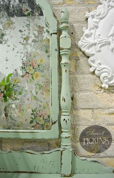 floral acid mirror by sweet pickins, decoupage, how to, painted furniture, shabby chic