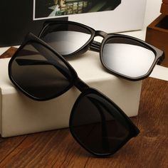 2284b521e889 Online Shop Vintage sunglasses male women s sunglasses black star style big  box mercury reflective glasses