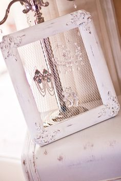 Shabby Chic Earring and Jewelry Holder by RuthieJeansHomeDecor, $23.00